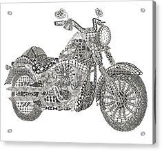 Tangled Harley Davidson Fatboy Acrylic Print