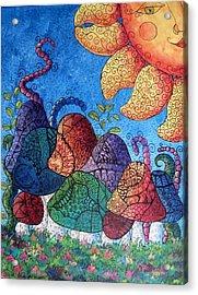 Tangled Mushrooms Acrylic Print