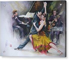 Tango Acrylic Print by Alan Kirkland-Roath