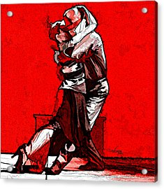 Tango Argentino - Melting Together Acrylic Print by Reno Graf von Buckenberg