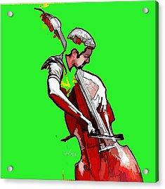 Tango Argentino - The Musician Acrylic Print by Reno Graf von Buckenberg