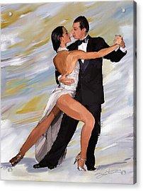 Tango Dancers Acrylic Print by Robert Smith