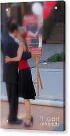 Tango Dancing On The Street Acrylic Print by Lingfai Leung