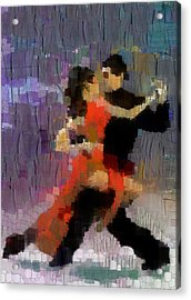 Acrylic Print featuring the painting Tango by Georgi Dimitrov
