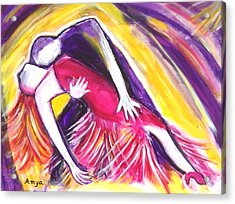 Acrylic Print featuring the painting Tango Love by Anya Heller