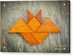 Tangram Bat Abstract Acrylic Print