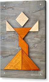 Tangram Dancer Figure Acrylic Print