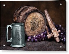 Tankard Of Drink Still Life Acrylic Print by Tom Mc Nemar