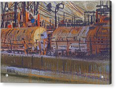Tanker Fill Point Acrylic Print by Donald Maier