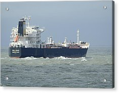 Tanker Heading At Sea Acrylic Print