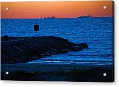 Tanker Sunrise Acrylic Print