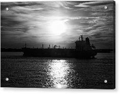 Tanker Twilight Acrylic Print