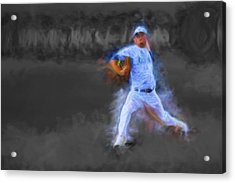 Tanner Tully Elkhart Central Blazers Pitches The Winning Game Champs 2013 Acrylic Print