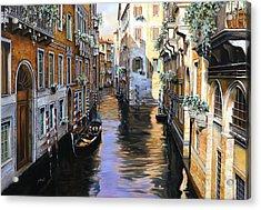 Tanta Luce A Venezia Acrylic Print by Guido Borelli