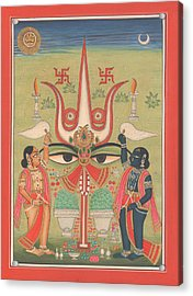 Tantra Tantrik Artwork Painting Hindu Mysterious Art Painting Artist  Acrylic Print by A K Mundhra