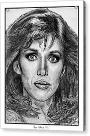Tanya Roberts In 1981 Acrylic Print by J McCombie