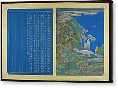 Tao Hongjing The Hermit Of Flowered Brigh Acrylic Print by British Library