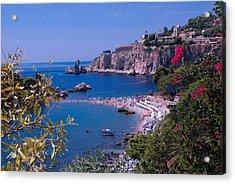 Taormina Beach Acrylic Print