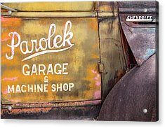 Acrylic Print featuring the photograph Taos Chevy by Steven Bateson