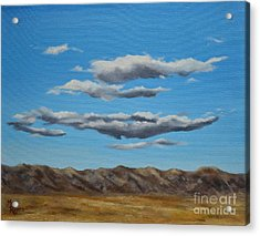 Taos Clouds Acrylic Print by Mary Rogers