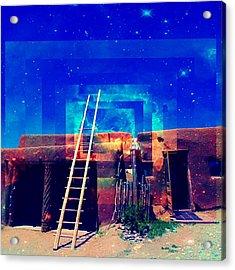 Acrylic Print featuring the mixed media Taos Dreams Come True by Michelle Dallocchio