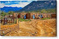 Taos Graveyard Acrylic Print