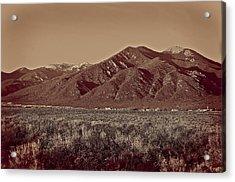Taos In Platinum-palladium  Acrylic Print