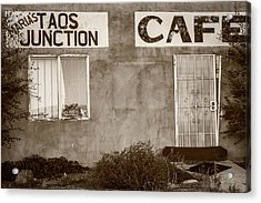 Taos Junction Cafe Acrylic Print by Steven Bateson