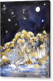 Taos Night Orbs Acrylic Print by Glory Wood