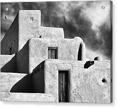 Taos Pueblo Stacks Acrylic Print