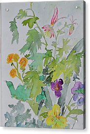 Acrylic Print featuring the painting Taos Spring by Beverley Harper Tinsley