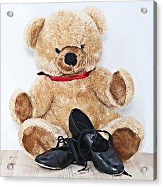 Tap Dance Shoes And Teddy Bear Dance Academy Mascot Acrylic Print