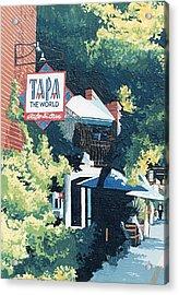 Tapa The World Acrylic Print by Paul Guyer