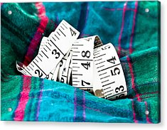Tape Measure Acrylic Print by Tom Gowanlock