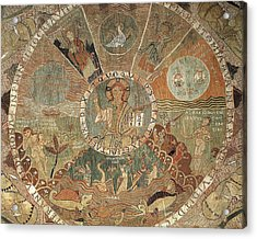 Tapestry Of Creation. 1st Half 12th C Acrylic Print by Everett