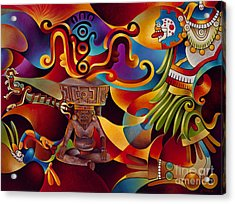 Tapestry Of Gods - Huehueteotl Acrylic Print
