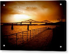 Acrylic Print featuring the photograph Tappan Zee Bridge by Aurelio Zucco