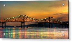 Tappan Zee Bridge Twilight Iv Panoramic Acrylic Print