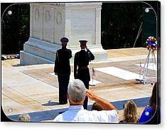 Taps At The Tomb Of The Unknown Acrylic Print by Patti Whitten