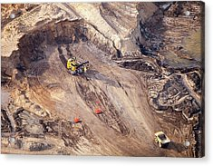 Tar Sands Deposits Being Mined Acrylic Print