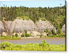 Tar Sands Deposits Exposed Acrylic Print by Ashley Cooper
