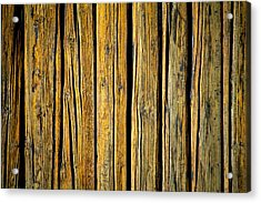 Tar-treated Wooden Wall Acrylic Print by Hakon Soreide