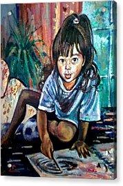 Tara Drawing Acrylic Print