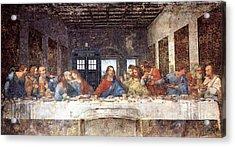 Tardis V Leonardo Da Vinci Acrylic Print by GP Abrajano