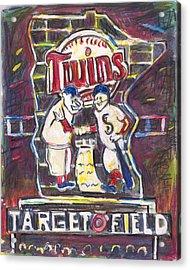 Target Field At Night Acrylic Print by Matt Gaudian