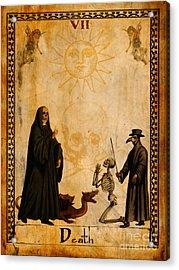 Tarot Card Death Acrylic Print