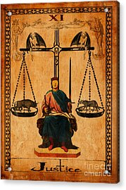 Tarot Card Justice Acrylic Print