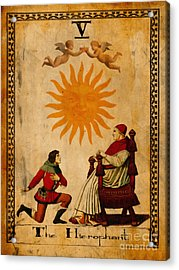 Tarot Card The Hierophant Acrylic Print