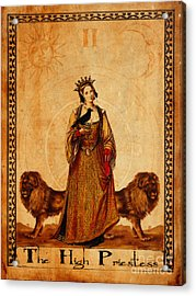 Tarot Card The High Priestess Acrylic Print
