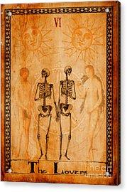 Tarot Card The Lovers Acrylic Print